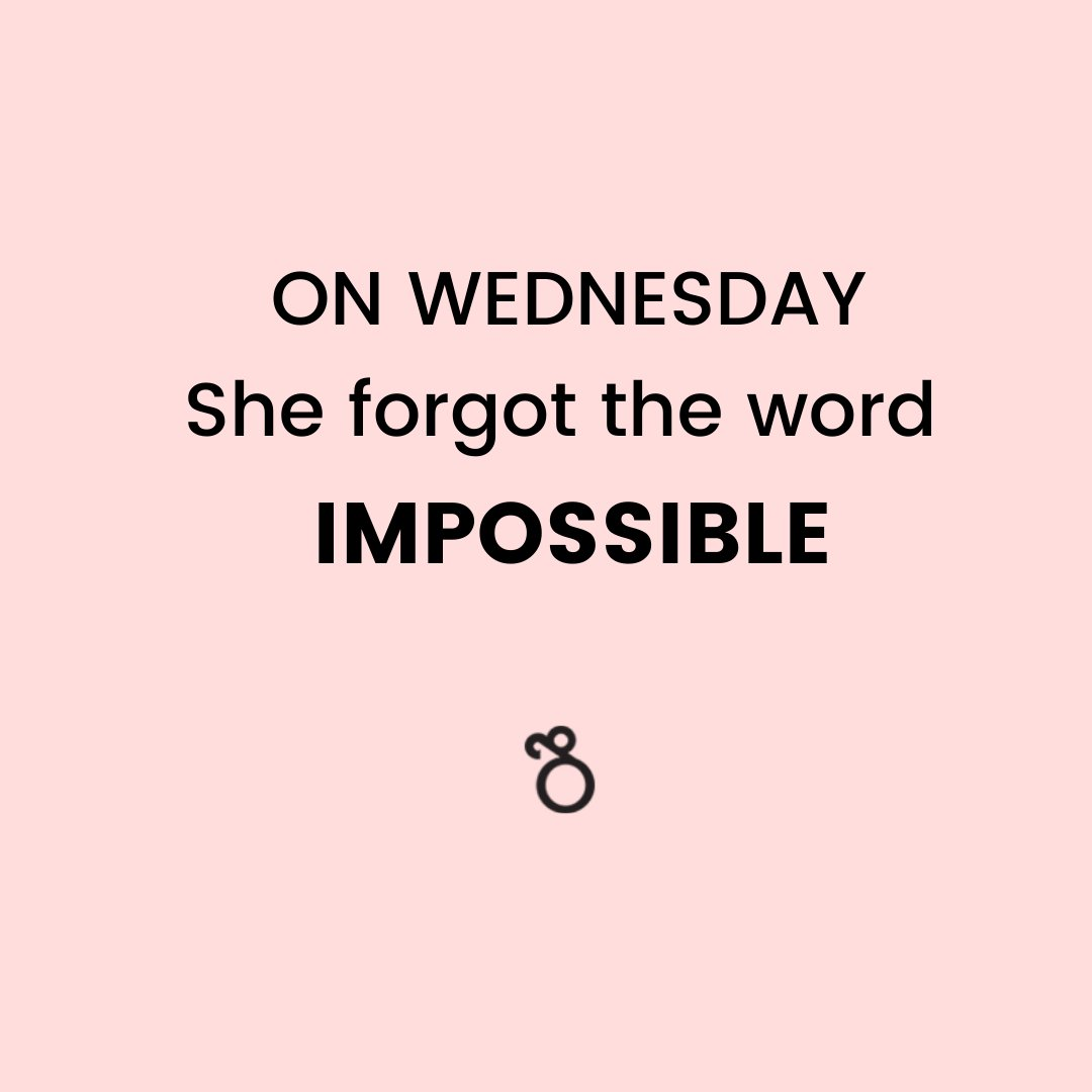 "On Wednesday, She forgot the word ""Impossible"". . . . . . #wednesday #wednesdaythought #creativebusiness #smallbusinesses #personalbranding #socialmarketing #sayyestosuccess #femalepreneur #ladypreneur #solopreneurs #buildyourbusiness #hersuccess #bossbabetribe #dontquityourdreampic.twitter.com/Tfk6KAy3aG"