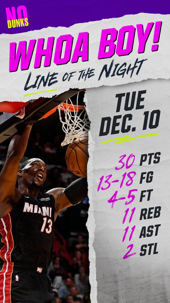 This one couldve gone to any @MiamiHEAT player — Jimmy, Duncan, Nunn — but Bam Adebayo (@Bam1of1) wins Tuesdays #WhoaBoy. #NoDunks