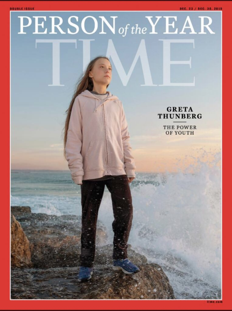 I caught up with Greta on the way to COP 25 in Madrid last week - so delighted to have played a part in this very special project. For becoming the most compelling voice on the most pressing issue facing our planet, @GretaThunberg is @TIME's choice for Person of the Year 2019