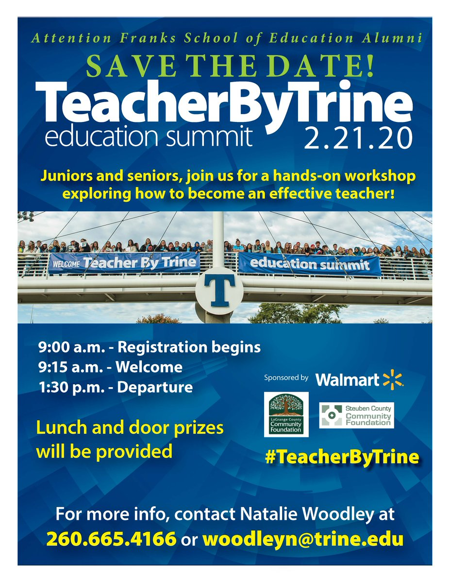 https:// bit.ly/35bn6Kj     See why Trine continues to experience growth in teacher education students with our hands-on professional development opportunity for current high school students looking to become teachers! #teacherbytrine #itsatrinething<br>http://pic.twitter.com/v6EkkKXZcM