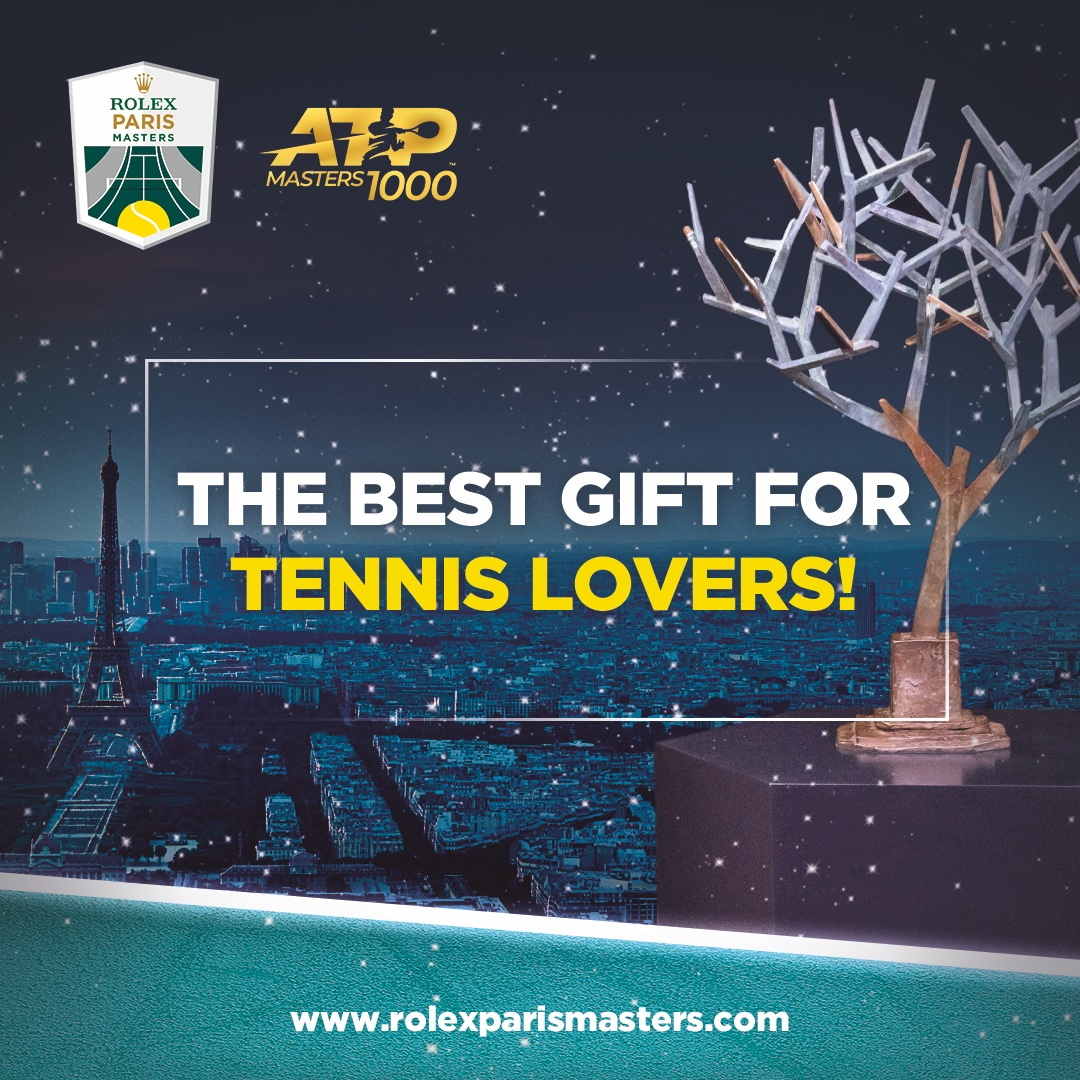 The best gift for tennis lovers : #RolexParisMasters tickets ! 🎟️🎾 >> https://t.co/brRiSI8NI7 https://t.co/pYX7tvWQcY