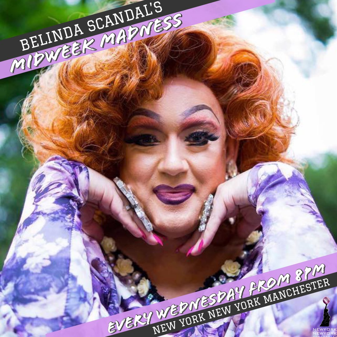 Join us tonight as we welcome @Belindascandal back to the stage for more fun & games on this wintery Wednesday! She'll be treating you to laughs aplenty from 8pm until late so pop in for a drink and a dance (don't forget we've 2-4-1 cocktails til 11pm too!) 💋