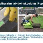 Image for the Tweet beginning: Viheralan työnjohtokoulutus tuo tuoreita