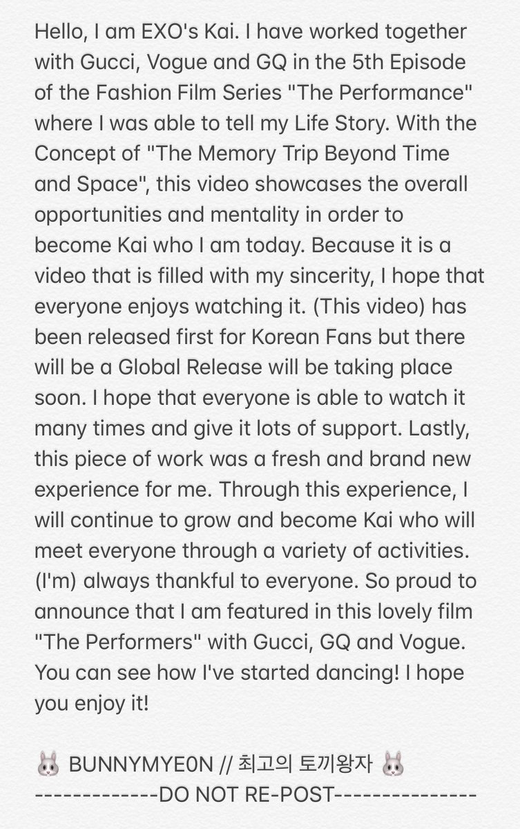 #GucciPerformerKAI