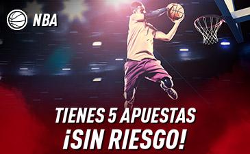🏀 Tus primeras 5 apuestas a la #NBA son con comodín: Si las fallas ¡Te las devuelven! http://bit.ly/ESPROMO1