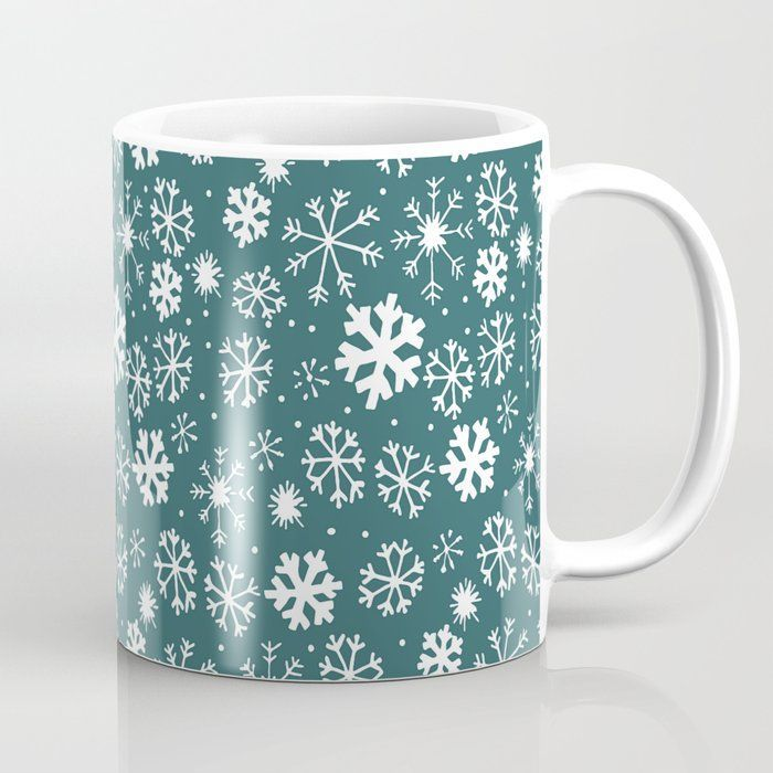 #Snowflake #Snowstorm In #Aqua #Blue #CoffeeMug by taiche | Society6 @Society6 #ATSocialMediaUK Also as #WallArt #HomeDecor #Pillows #Bedding #Bath #Tabletop #Stickers #Stationery #Tech #Apparel #Bag #Furniture #ThemedHomeDecor