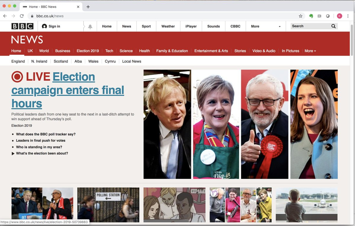Yes, this is really Britain's choice tomorrow (according to the photo editor of the @BBCNews homepage).