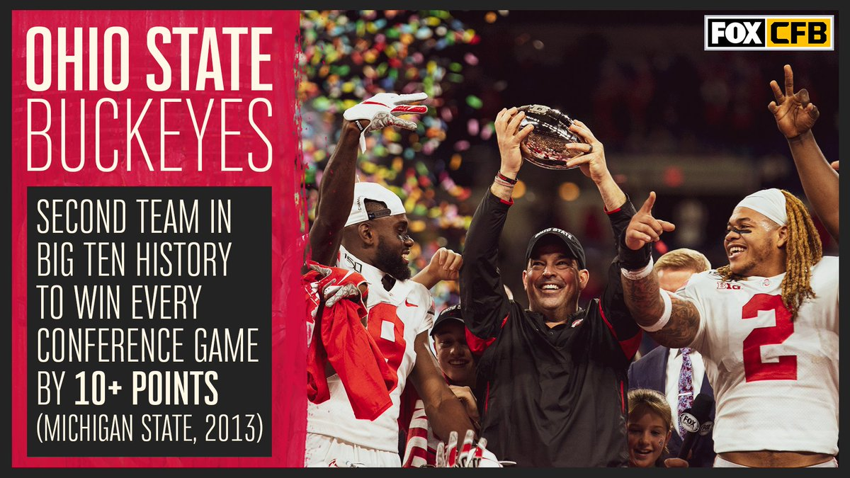 💪@OhioStateFB was dominant in @bigten games this season.