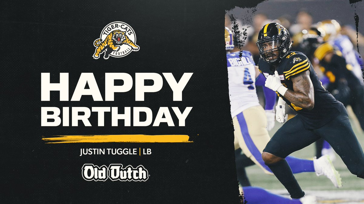 Happy birthday, Tug (@Takeover_Tuggle)! 🎈  #Ticats | @olddutch https://t.co/4192I3F6j4
