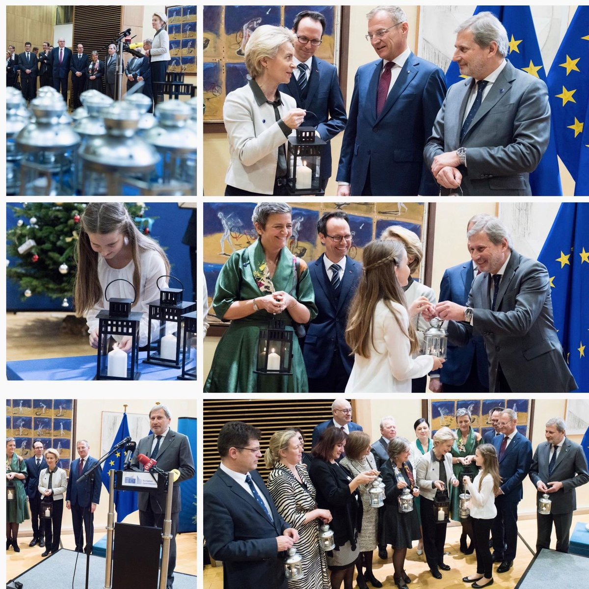 "Bringing the #Christmas spirit to the heart of #Europe: Welcoming the ""Light of Peace"" with President @vonderleyen & @EU_Commission colleagues in #Brussels. Thank you to #UpperAustria governor T. Stelzer & @ORF for this annual tradition. May the light shine bright in 2020!pic.twitter.com/SUpgotLAhY"