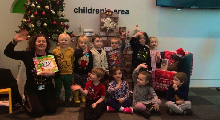 We had a lovely Christmas class visit and storytime by the Fireplace with St Bertaline's pre school class this afternoon ♥️🎄#ourday RT