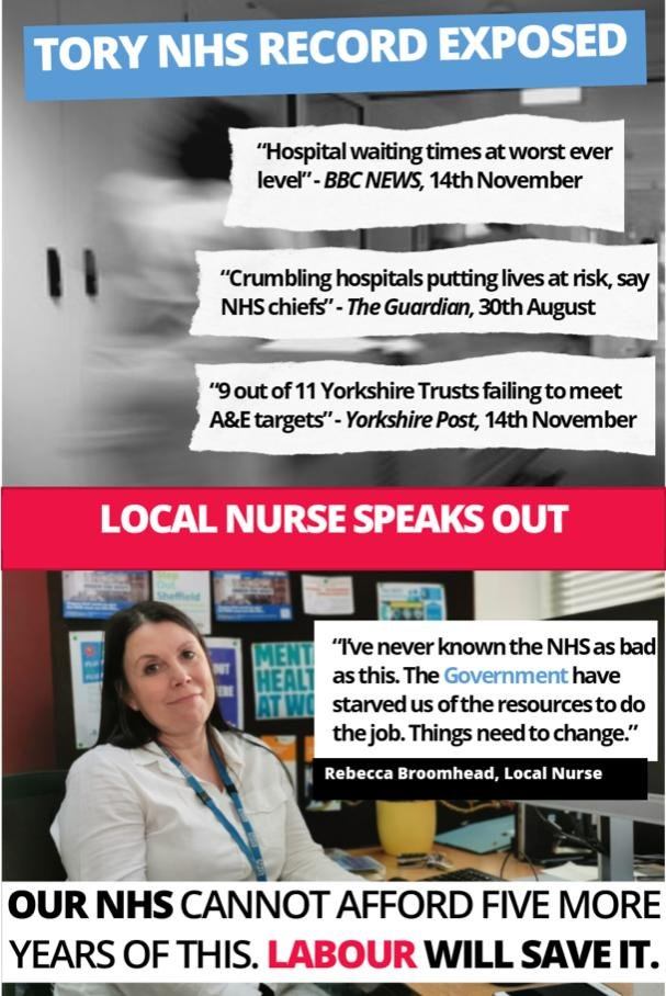 As featured in todays @SheffieldStar #VoteLabourOnThursday #NHSCrisis #GeneralElection19