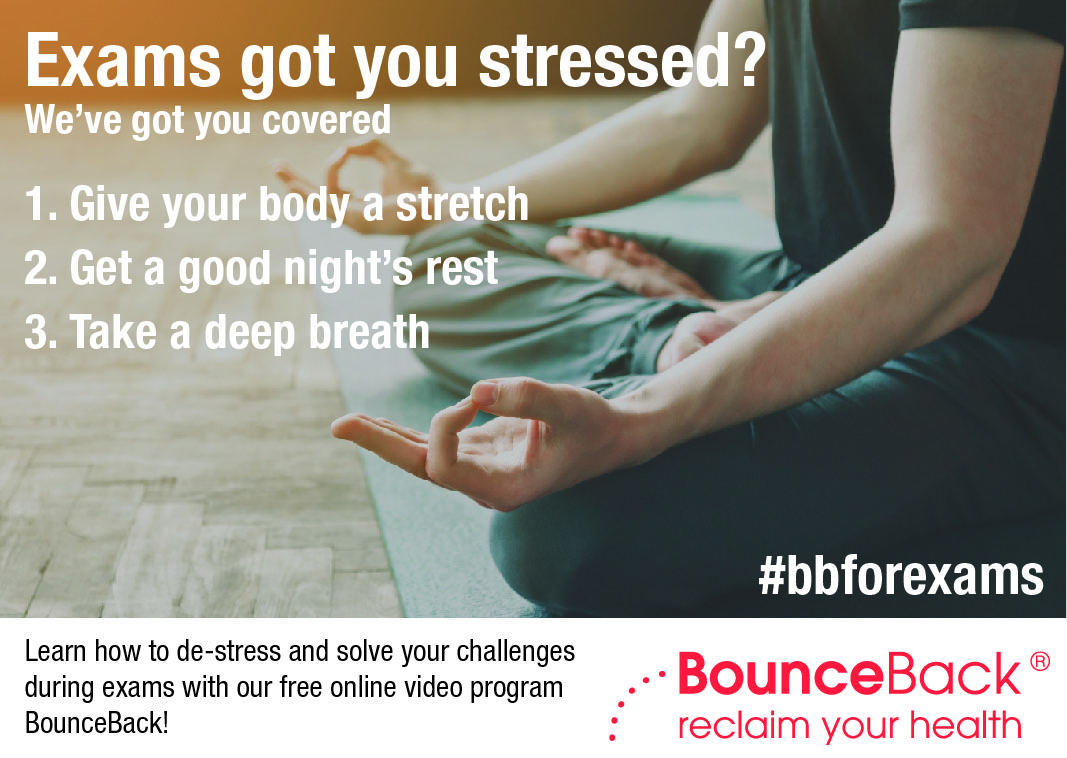 test Twitter Media - Breathe. Close your eyes and take slow, deep breaths. Drop your shoulders and relax your arms and legs. Meditation can be extremely helpful during #exams. #bbforexams Get more tips from the free #BounceBack program: https://t.co/IgmQHB39ey https://t.co/XDLDlWeIyb