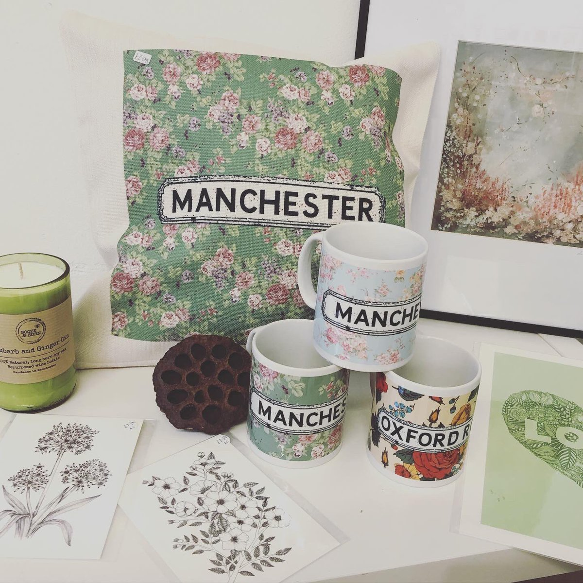 AND BREATHE 🌿In amongst the hustle and bustle of a busy city we have created a little bit of nature and calmness! NQ's creatives have created the NQ Natural collection with fine art florals, printed mugs & cushions, botanical illustrations and sea salt and wood sage candles 💚