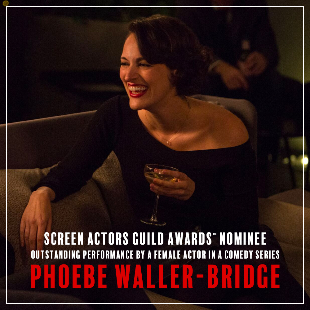 Our local guinea pig cafe owner is now a #SAGAwards nominee! Congratulations to Phoebe Waller-Bridge on her nomination for Outstanding Performance by a Female Actor in a Comedy Series.