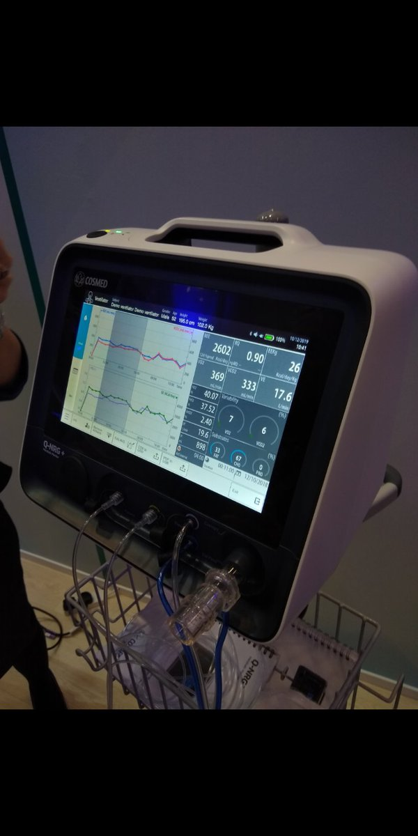 Indirect calorimetry...is this little machine the future of personalised ICU nutrition?  Probably.   #ICSSOA<br>http://pic.twitter.com/BZz5R68sax
