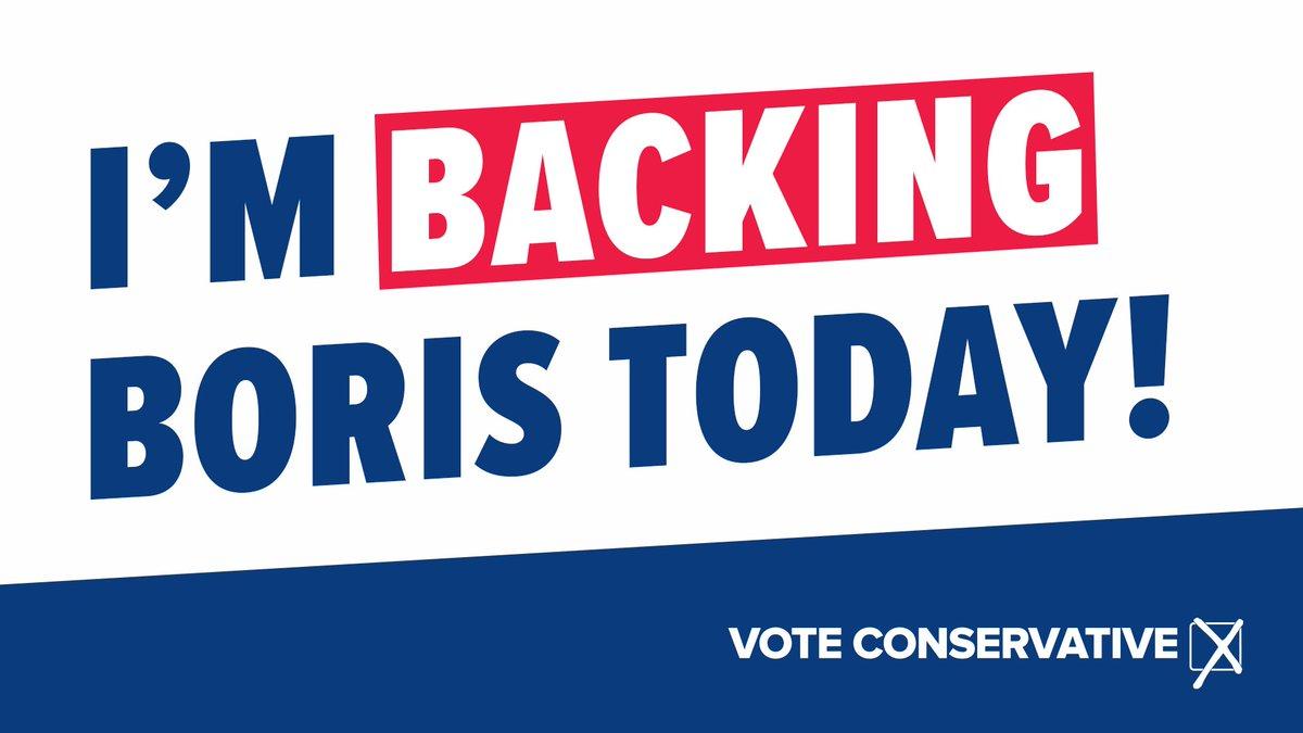 Retweet if you're backing Boris. 🗳️ #VoteConservative