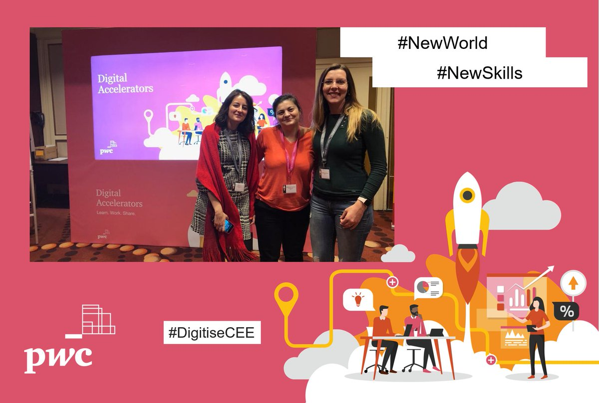 Digital automation, AI and data are changing day to day lives. Our Digital Accelerators are learning how we can adapt and use these tools to our advantage.  @PwCCEE   #DigitiseCEE #NewWorld #NewSkills https://t.co/dzIYcblb9W