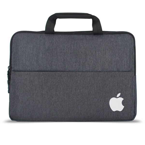 """Newport 3.0 - 13"""" Laptop Sleeve features a double track, top loading zipper compartments, new sleek heather gray fabric, padded carrying handles, internal organizer & mesh compartments.#work #home #travel #promo #marketing #laptop #logo #custom"""