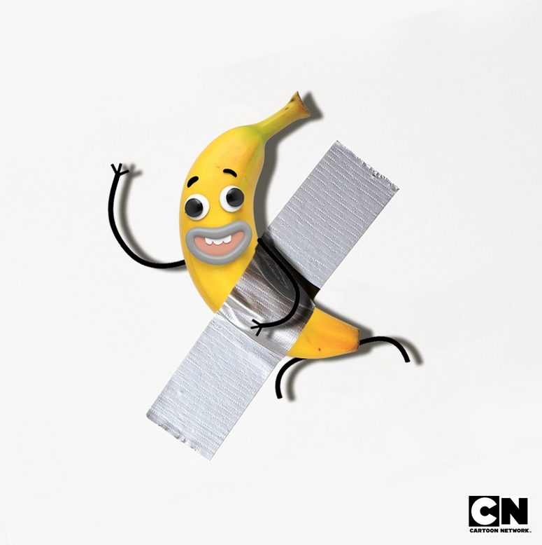Interdiction de toucher, c'est de l' #art ! 🗣🍌 #artbasel #artbaselbanana #banane #Gumball