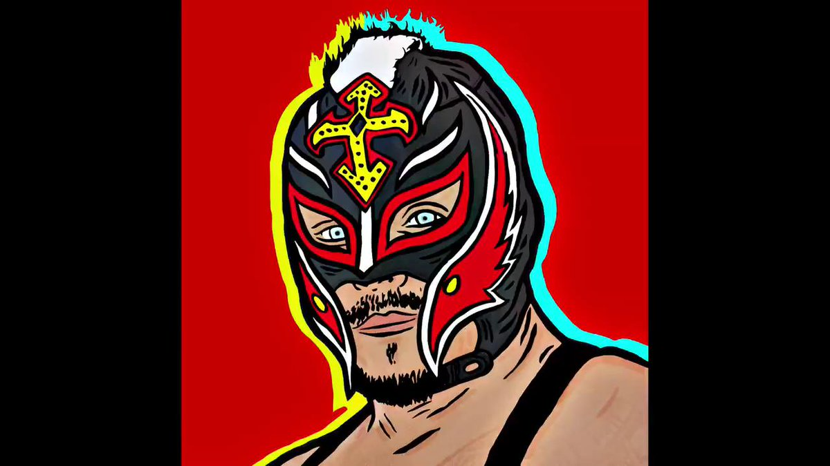 🤯 You've NEVER seen @reymysterio like this! 🤯Celebrate The #USChampion's birthday by feasting your eyes on some truly MIND-BLOWING art from our digital designers! #HappyBirthdayRey