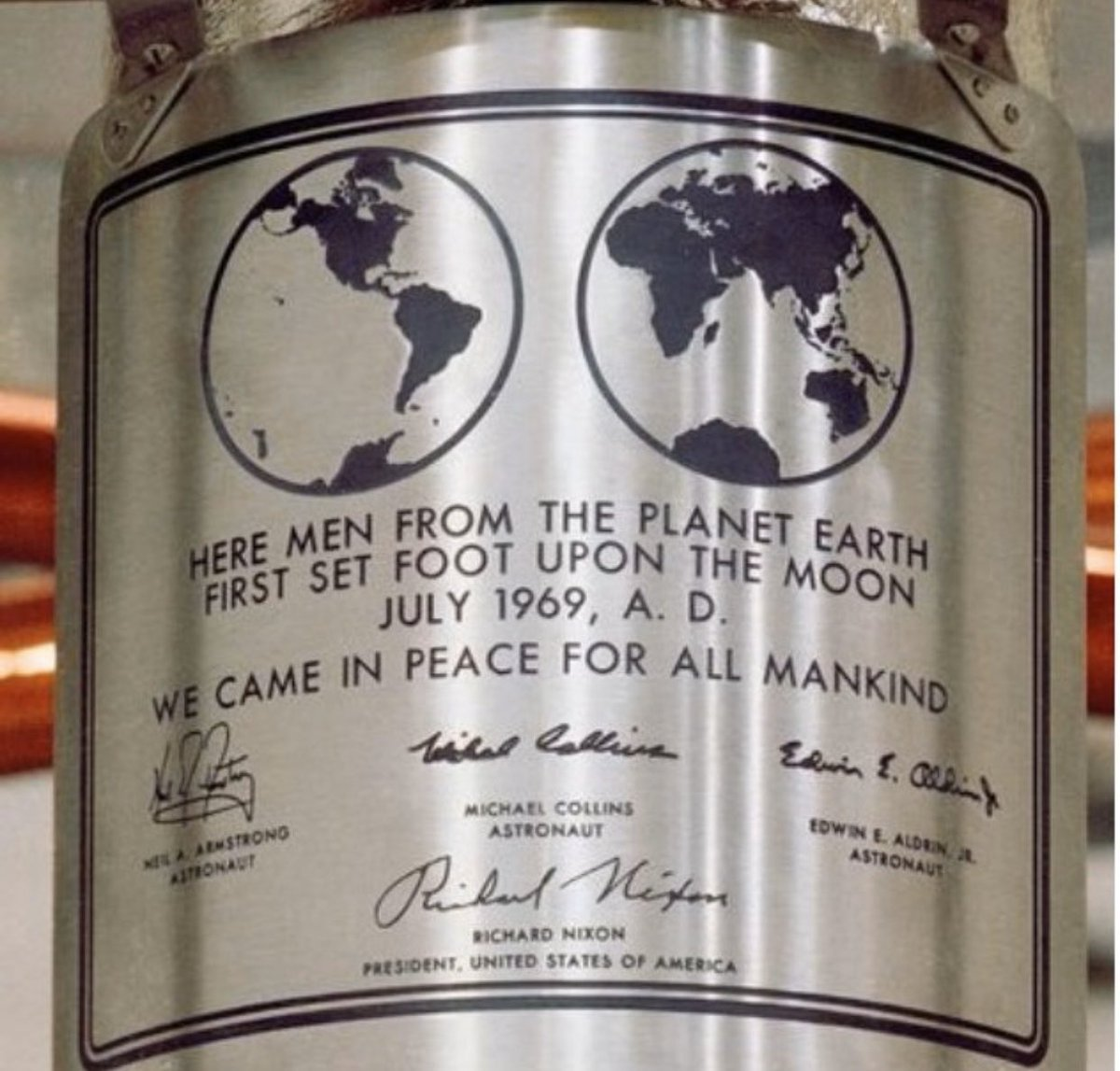 I always marvel at the plaques that we left on the Moon. It was an honor and a privilege to have served on #Apollo11. #Apollo17 was the last of the Apollo program – but it won't be our last rodeo. Our return to the Moon will be the ultimate homecoming.  #Apollo50th <br>http://pic.twitter.com/jVlQ6wn3px