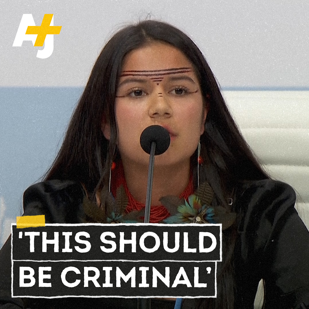 """""""They are violating our human rights ... This should be criminal.""""   This 17-year-old Indigenous activist from the Ecuadorian Amazon called out world leaders at #COP25 for criminal negligence."""