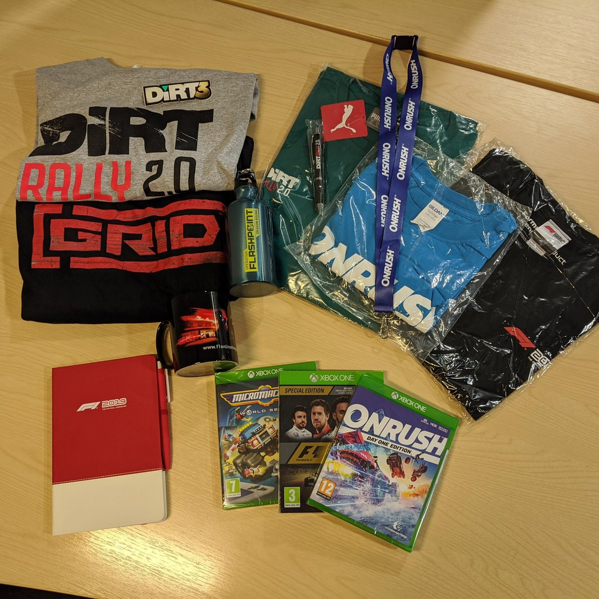 The @GamesAid charity bundle featuring a bunch of Codemasters merch ends in just a few hours. Get bidding before its too late ⏰ buff.ly/38pHkCp