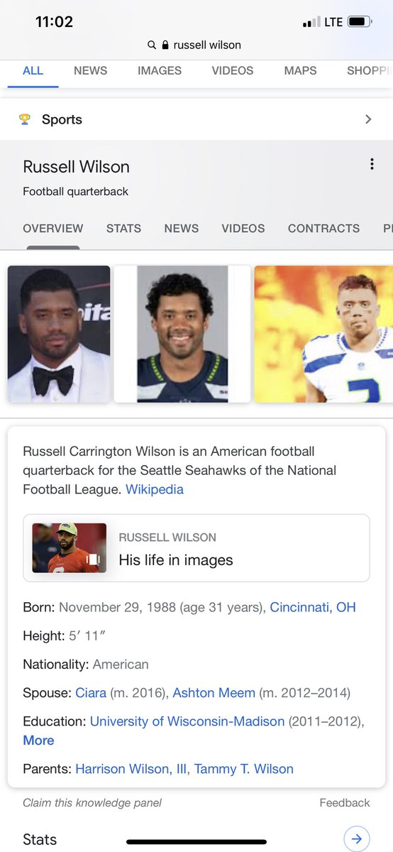 Russell Wilson 5'11 and One of the Best QB's in the League💯 Stop acting like Size Matter