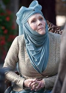 Olenna Tyrell from #GameOfThrones. The famously tart-tongued Queen of Thorns. <br>http://pic.twitter.com/nVRifVLi40