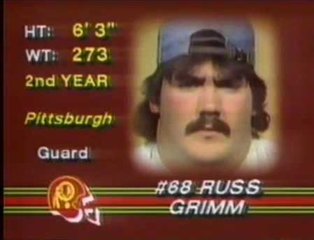 """Russ Grimm led the NFL in 1982 in saying """"What the fuck are you lookin' at, dork?"""""""