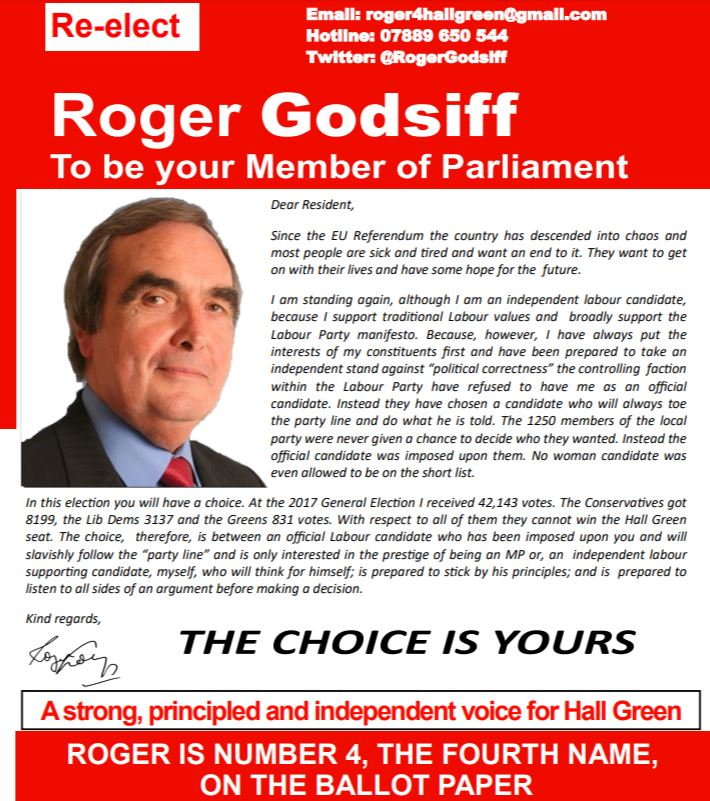 Because I have stood up for parents rights the ruling faction in the Labour Party would not allow me to be the official candidate, so I am standing as Independent labour. Thank you for your support. #Vote4 https://t.co/goWSlFZ49u