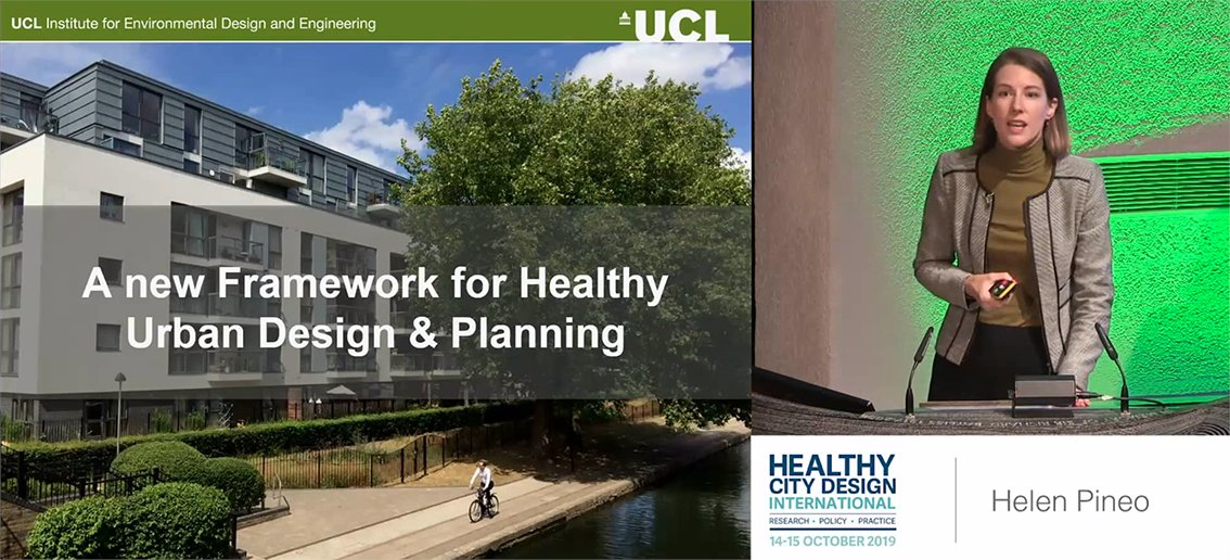 Ucl Inst For Environmental Design And Engineering On Twitter Watch Dr Helenpineo Presenting A Healthy Urban Design And Planning Framework Integrating Sustainability Equity And Inclusion At Hcd2019 W Thanks To Gsttcharity