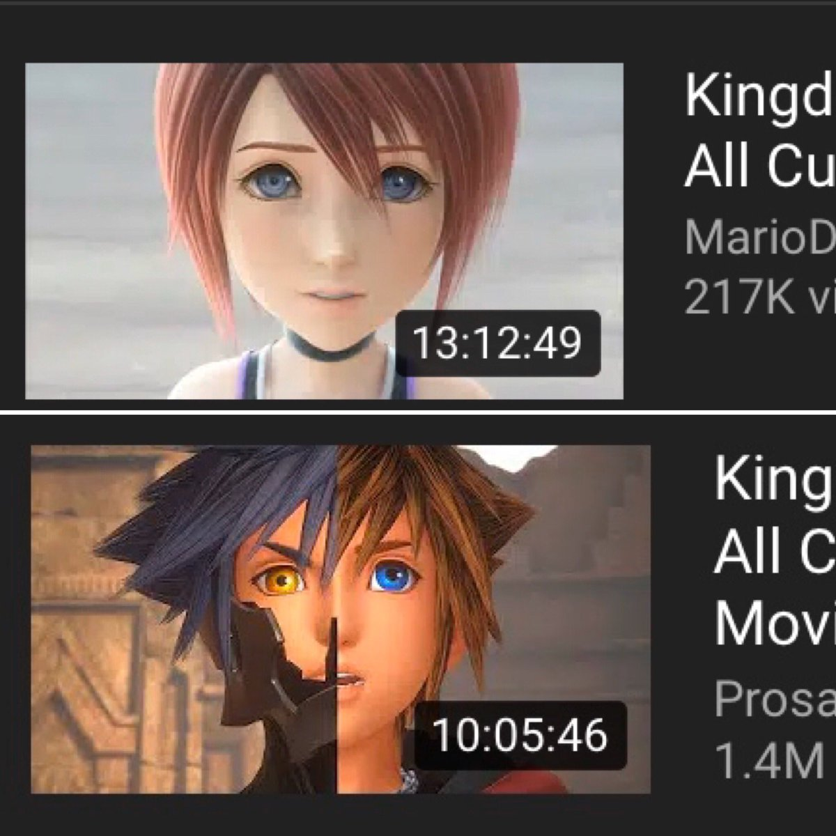 """Friendly reminders to those who say that Kingdom Hearts 3 has too many cutscenes and is too long.1. The cutscenes throughout the entire series have always been """"lengthy"""" because it's main focus is the story.2. KH2, the """"Perfect"""" KH, has more cutscenes than 3!"""