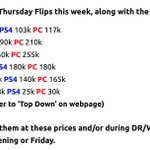 Image for the Tweet beginning: thursday flips for week 13