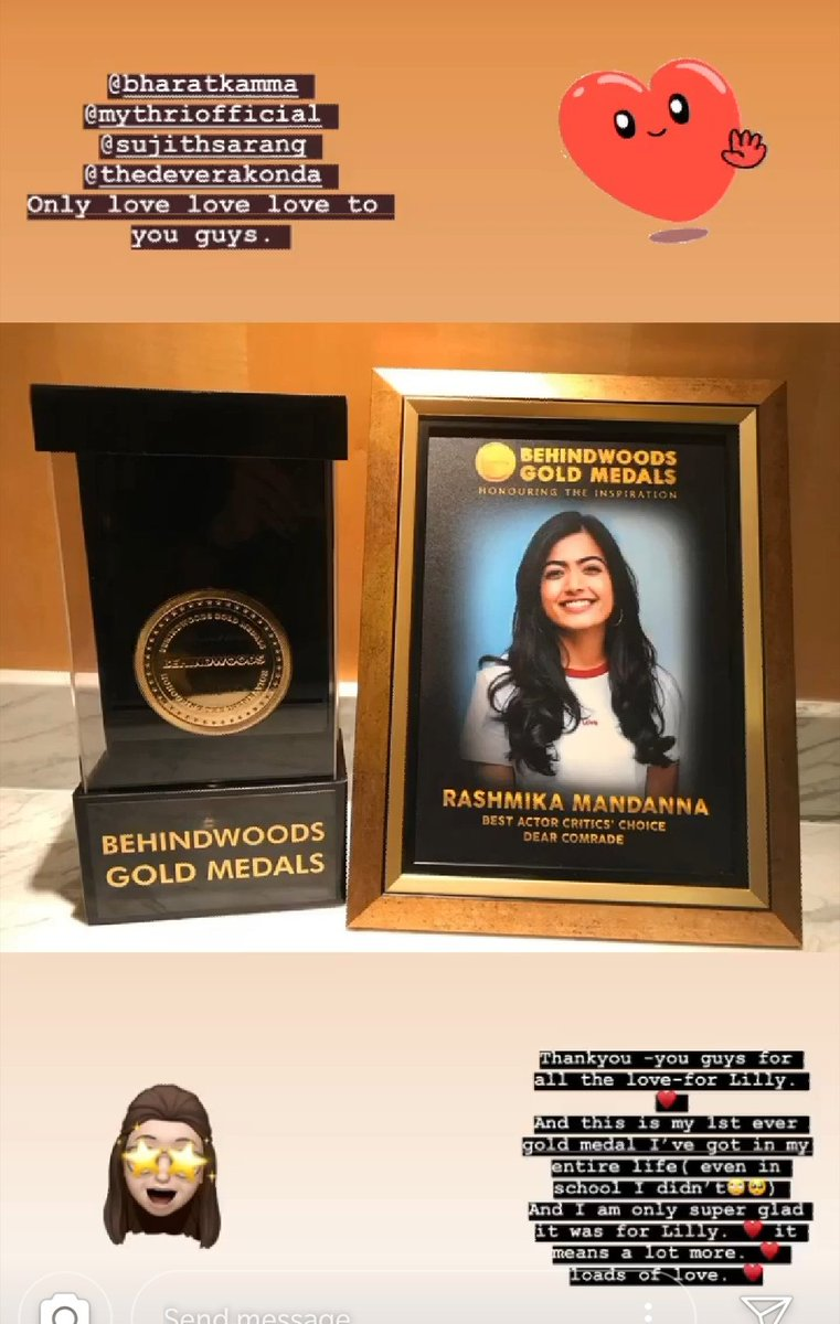 One more status for the day about the Behind woods Gold medals for #DearComrade <br>http://pic.twitter.com/tKnETqEVJp