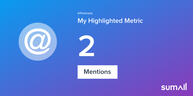 My week on Twitter 🎉: 2 Mentions. See yours with sumall.com/performancetwe…