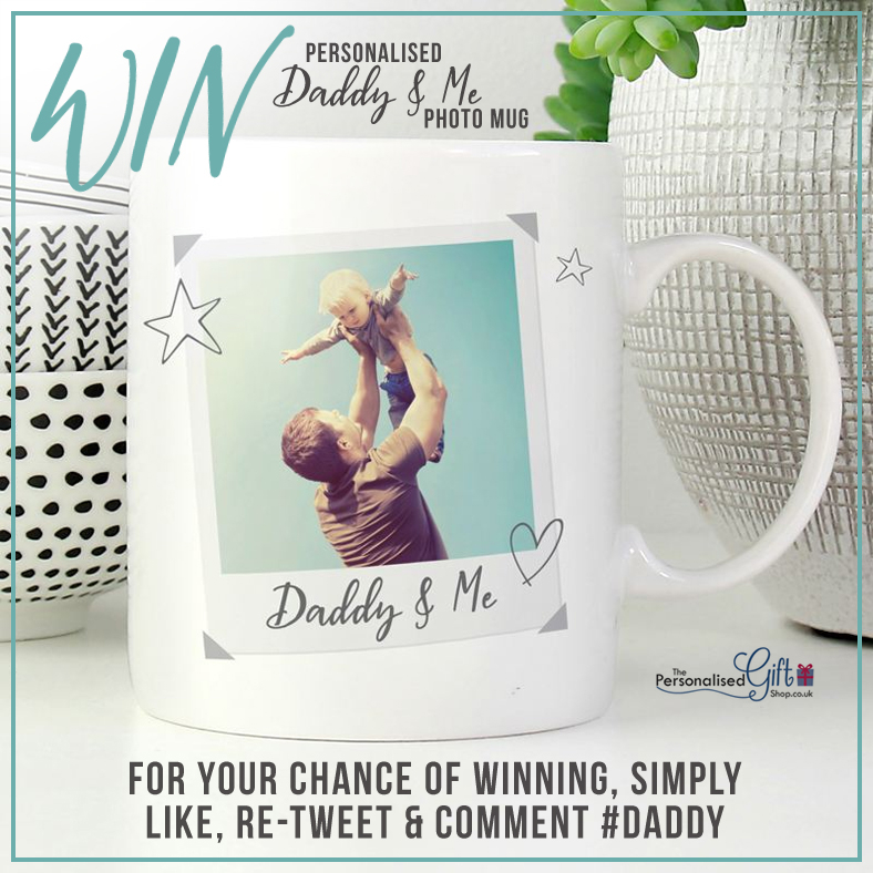 COMPETITION   WIN a personalised Daddy & Me photo mug  To enter all you need to do is:   Like  Retweet   Comment #DADDY   You must follow our page for your entry to be counted.  Comp ends Tue 17 Dec   T&Cs apply.  #competition #win #winningwednesday<br>http://pic.twitter.com/2CWxtuGtZZ