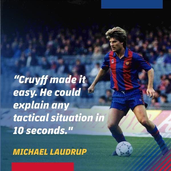 Michael Laudrup on @JohanCruyff... Read his full letter: barca.link/D5xT50xxD2h 3