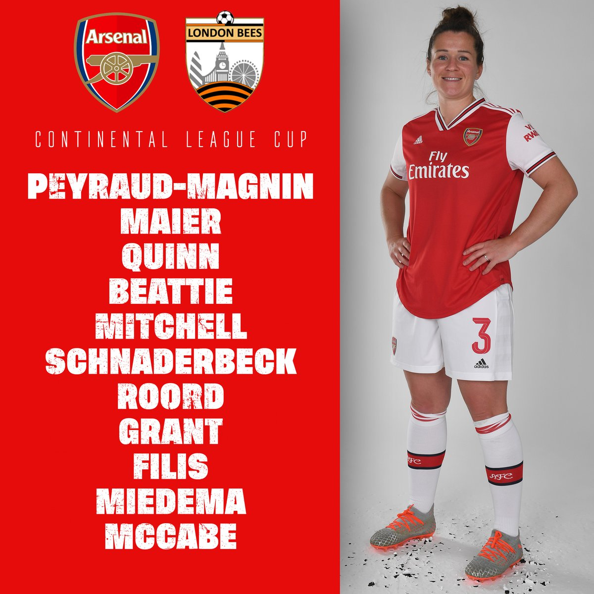 TIME FOR TEAM NEWS    @Louise_Quinn4 captains the side   @VikSchnaderbeck in midfield   Youngsters Grant and Filis start   #ContiCup <br>http://pic.twitter.com/jOvzzRgCUz