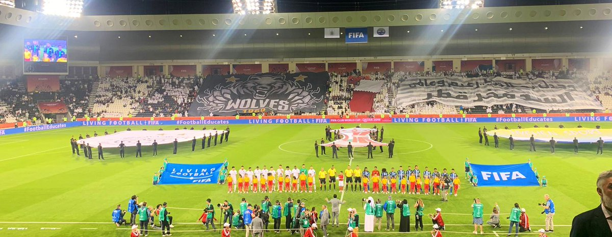 It's almost kickoff time for #ClubWC. New Caledonias 🇳🇨Hienghene Sport v hosts 🇶🇦@AlsaddSC. ⚽️ @FIFAcom