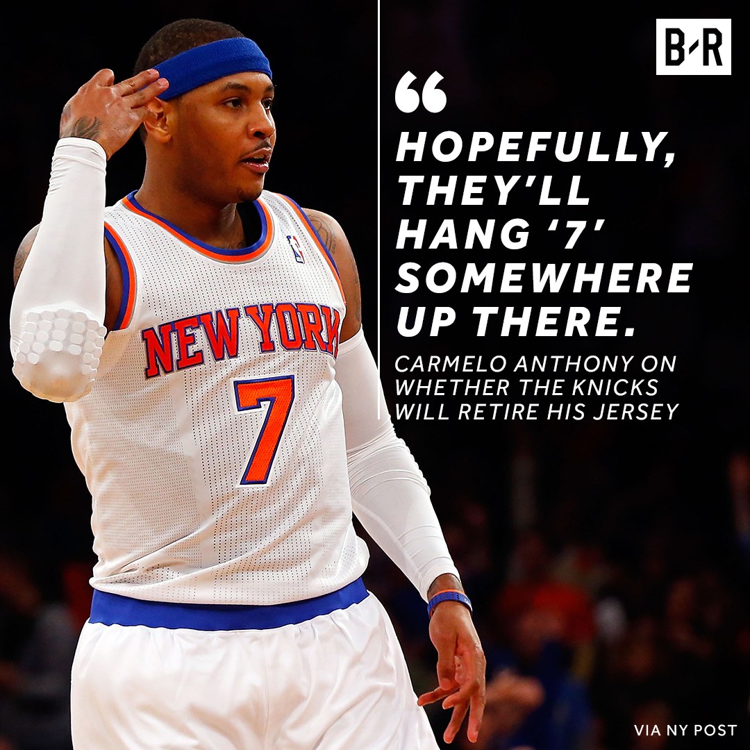 Melo wants to be in the Garden rafters 🙏