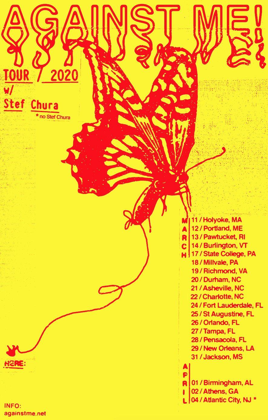 Against Me March Tour flyer
