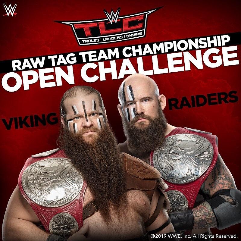 Los #VikingRaiders tienen un reto abierto por los títulos de pareja de #RAW. ¿Quien responderá a el llamado? Descúbrelo este Domingo en #WWETLC.