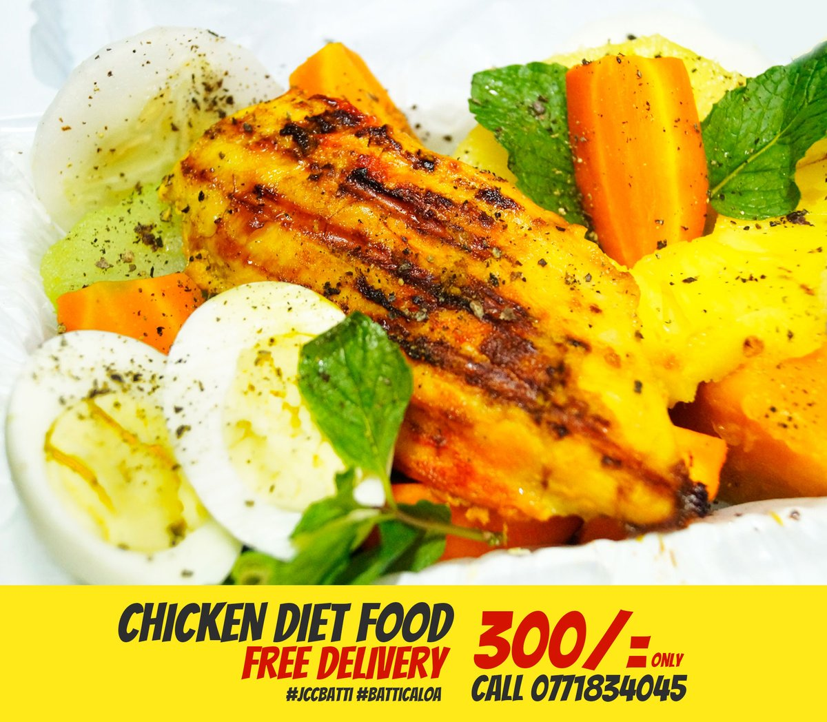 You can get #Chicken Diet Food at JC #Catering Services Batticaloa. One of the Meal Delivery company in Eastern Province Sri Lanka #ChickenDiet #DietFood