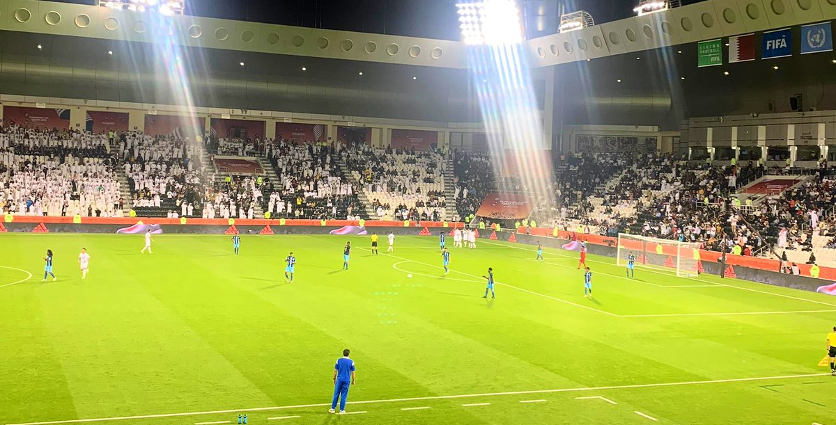1st goal of the match here @ Jassim Bin Hamad 🏟 as Baghdad Bounedjah scores for @AlsaddSC taking them into a 1-0 lead over #HiengheneSport #ClubWC. ⚽️
