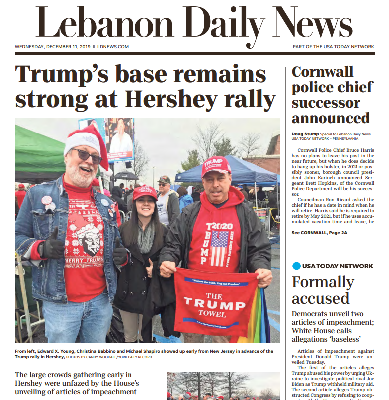 """""""Trump's base remains strong at Hershey rally"""" - Lebanon Daily News in Pennsylvania  #KeepAmericaGreat #TrumpRally #MAGA<br>http://pic.twitter.com/NhSIpvYT2m"""