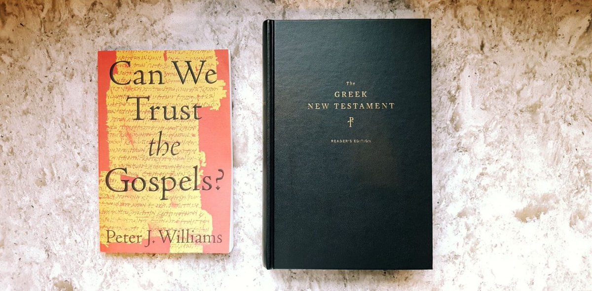 GIVEAWAY: In light of our most recent podcast with @DrPJWilliams, we will be choosing 3 winners who will each receive a copy of the Tyndale House Greek New Testament and a SIGNED copy of Can We Trust the Gospels? Thanks to our friends @crossway!  Follow and RT to enter!<br>http://pic.twitter.com/KkZHfMQuY7