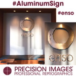 Take a peek at this beautiful aluminum sign we made for #enso Our team cut all the letters and the logo from 1/4