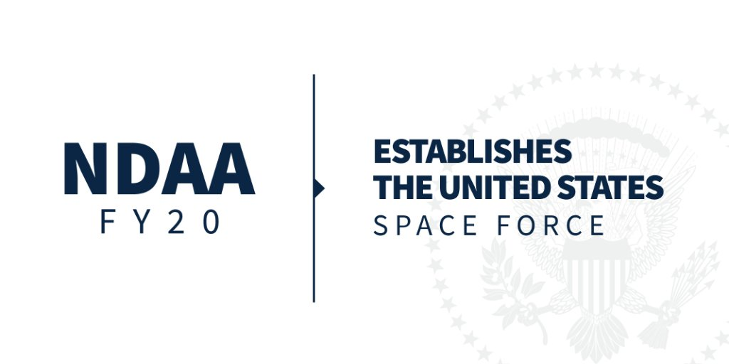Thanks to President @realDonaldTrump's leadership in establishing space as a warfighting domain, the United States will dominate in that environment just like all others.<br>http://pic.twitter.com/BohgpzmI8p